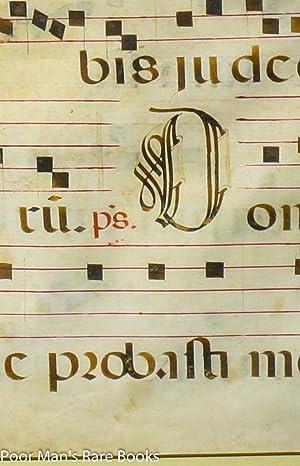 LARGE MANUSCRIPT CHRISTIAN CHOIR BOOK LEAF ON VELLUM WITH PORTRAIT Lbc: Not Attributed