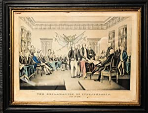 Patriots Looking Over Documents For The Declaration: Not Attributed