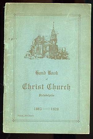 GRAND BOOK OF CHRIST CHURCH PHILADELPHIA 1695: May not be