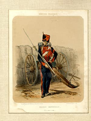 1850'S COLOR LITHOGRAPH OF A FRENCH IMPERIAL GUARD [FRENCH EMPIRE] [Lbc]: Godard Q Des Augustins