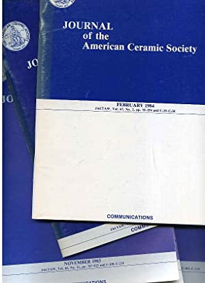 JOURNAL OF THE AMERICAN CERAMIC SOCIETY April: Various