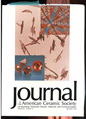 JOURNAL OF THE AMERICAN CERAMIC SOCIETY Incorporating: Various