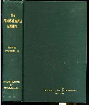 THE PENNSYLVANIA MANUAL Volume 97 1965-66: Commonwealth Of Pennsylvania