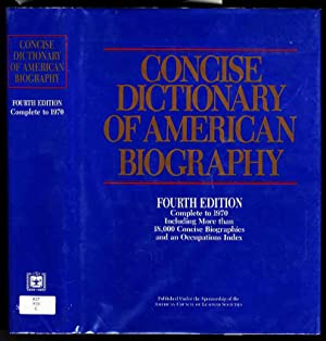 CONCISE DICTIONARY OF AMERICAN BIOGRAPHY FOURTH EDITION: Hopkins, Joseph G.