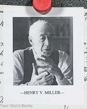 HENRY MILLER. [ALS] AUTOGRAPH LETTER SIGNED BY HENRY MILLER AND DENIGRATING HIS BIOGRAPHY: Henry ...