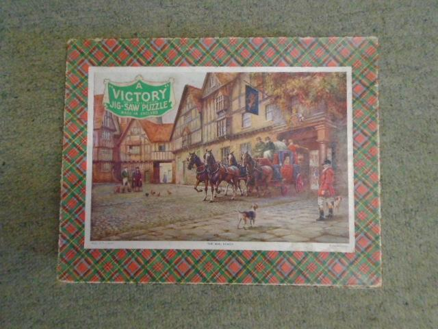 A Victory Jig-Saw Puzzle: The Mail Coach [wooden 350 piece puzzle]