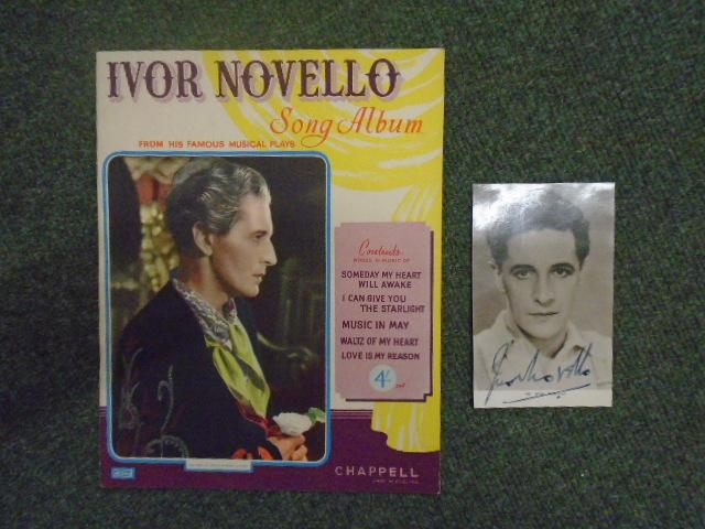 Ivor_Novello_Song_Album_From_His_Famous_Musical_Plays_piano_sheet_music_and_a_signed_black_and_white_photograph_of_Novello_Novello_Ivor___Couv