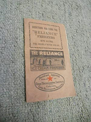 """Directions for using the """"Reliance"""" Freezers with: Anon"""