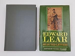 Edward Lear: Selected Letters; Letters of Edward: Lear, Edward, Noakes,