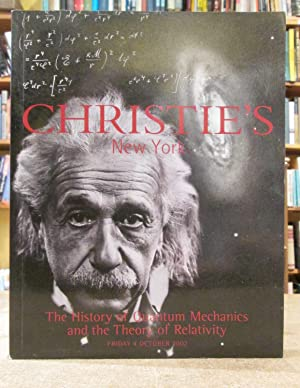 Christie's New York: The History of Quantum Mechanics and the Theory of Relativity Friday 4 Octob...