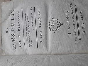 DE L'ESPRIT tome second: Claude Adrien Helvétius