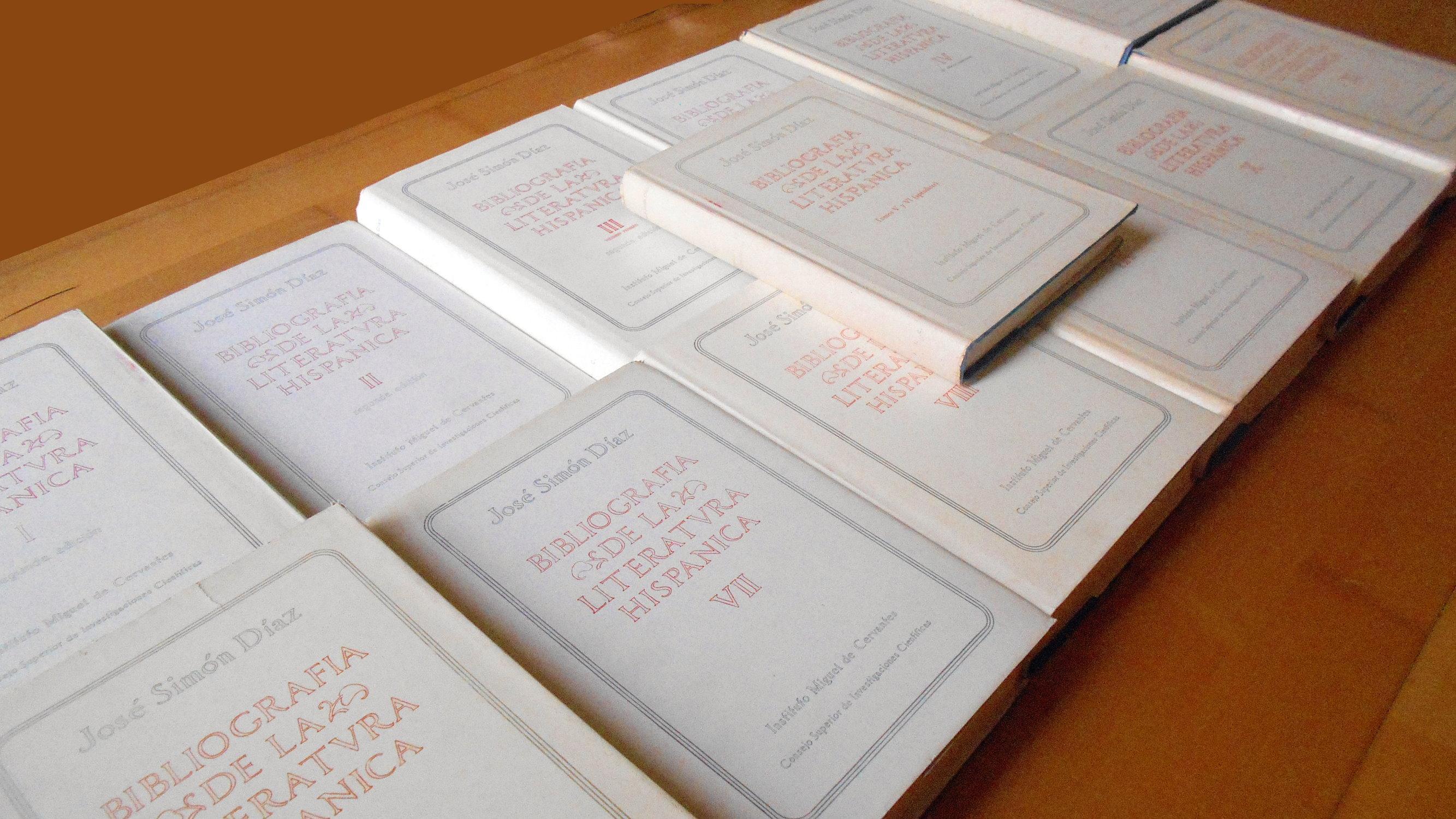 Bibliografía de la literatura hispánica: 11 tomos con un suplemento (trece volúmenes / 13 volumes) - José Simón Díaz