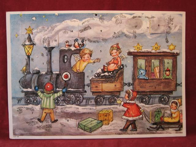 "Adventskalender ""Eisenbahn""."