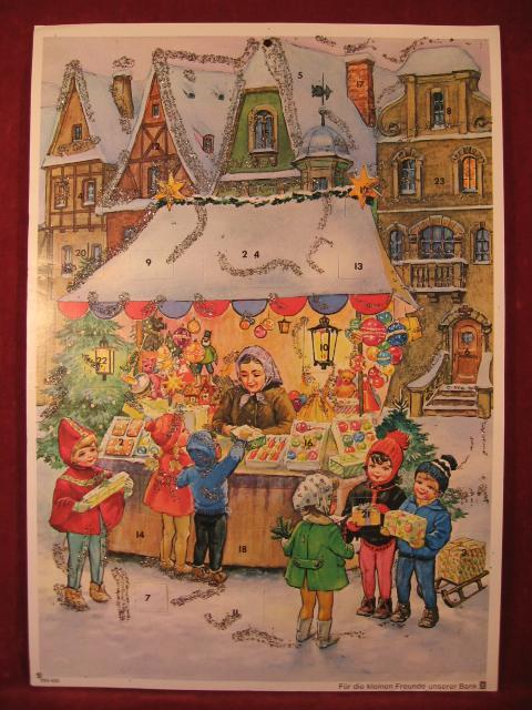 """Adventskalender: """" Weihnachtsmarkt """"."""
