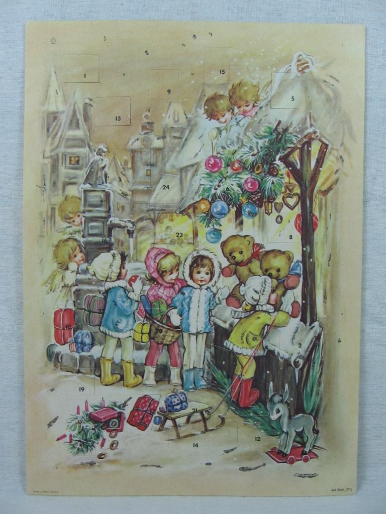 Adventskalender Weihnachtsmarkt.