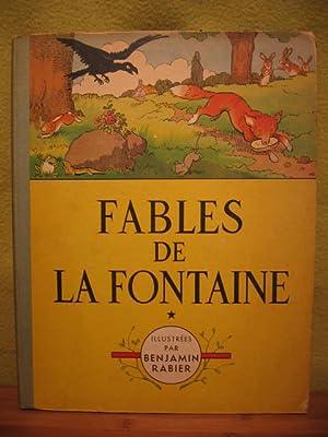Fables De La Fontaine. Illustrees par Benjamin Rabier.: Fontaine, La / Rabier, Benjamin: