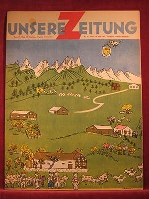 Unsere Zeitung. 1. Jahrgang. Heft 22, Mai 1947.