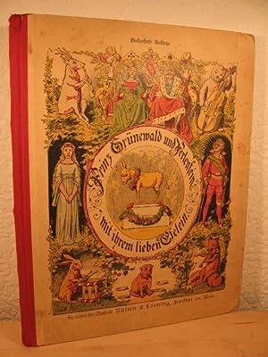 Prinz Grünewald und Perlenfein mit ihrem lieben Eselein.: Hoffmann, Heinrich: