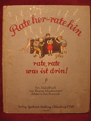 Rate her - rate hin rate, rate was ist drin! Ein Rätselbilderbuch von Hanna Schachenmeier.: ...