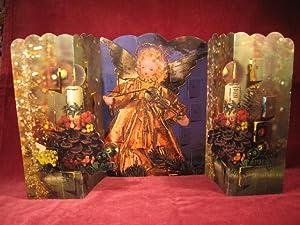 """Aufstell-Adventskalender HACO 0299: """" Engel mit Geige """"."""