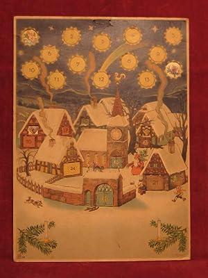 """Adventskalender """" Weihnachtsmann kommt in ein Dorf """".: Scherzer, Conrad:"""