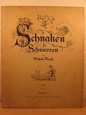 Schnaken & Schnurren von Wilhelm Busch. Eine Sammlung humoristischer kleiner Erzählungen ...