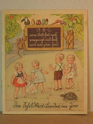 Die Schildkröt - Kinder im Zoo. A - B - C, wer Lust hat, geh vergnügt und froh mit uns ...