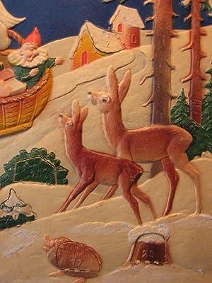 """Adventskalender aus Prägepappe """" Weihnachtsmann """"."""