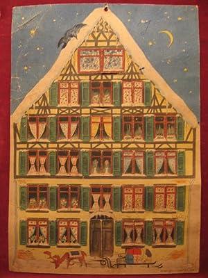 Adventskalender Weihnachtshaus.