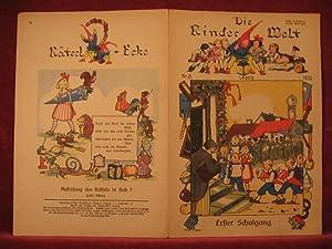 Die Kinderwelt. Jahrgang 1932, Heft Nr. 8. Schulanfang.