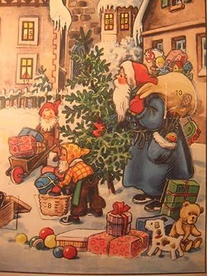 """Adventskalender: """" Weihnachtsmann kommt in die Stadt """".: Brandes, Kurt (?):"""