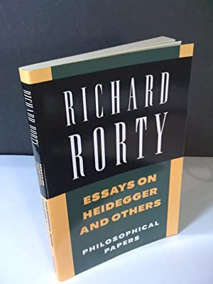 2 essay heidegger others papers philosophical rorty volume The second volume pursues the themes of the first volume in the context of discussions of recent european philosophy focusing on the work of heidegger and derrida his four essays on heidegger include philosophy as science, as metaphor and as politics and heidegger, kundera, and dickens three.