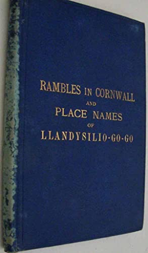 Holiday Rambles in cornwall and Place Names: H Tobit Evans