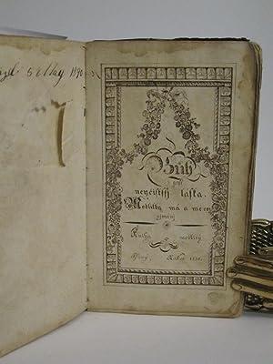 Czech Prayer Book (Handwritten, 1831)