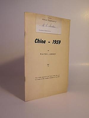 China - 1959: GORDON, WALTER L.
