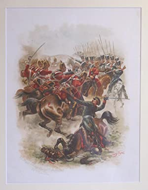 On Service At Home and Abroad (Single Lithograph Only- The Heavy Cavalry Charge at Balaclava 25th ...