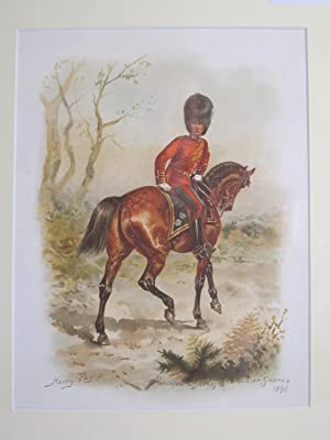 On Service At Home and Abroad (Single Lithograph Only - Mounted Officer of Grenadier Guards): ...