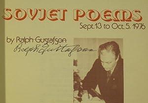 Soviet Poems: GUSTAFSON, RALPH