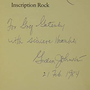 Inscription Rock: JOHNSTON, GORDON