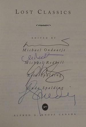 Lost Classics: ONDAATJE, MICHAEL; REDHILL, MICHAEL; SPALDING, ESTA; SPALDING, LINDA [eds.]