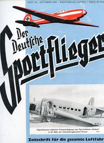 Der Deutsche Sportflieger 1941 Heft 10 Oktober,: Seyboth, Karl (Ing.,