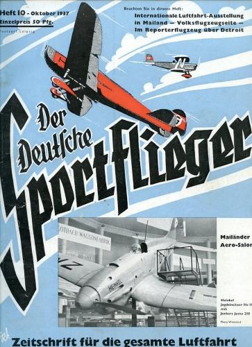 Der Deutsche Sportflieger 1937 Heft 10 Oktober,: Seyboth, Karl (Ing.,