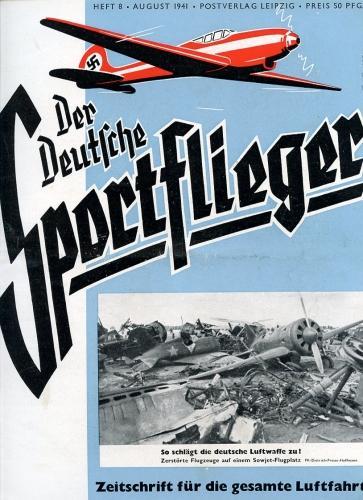 Der Deutsche Sportflieger 1941 Heft 8 August,: Seyboth, Karl (Ing.,