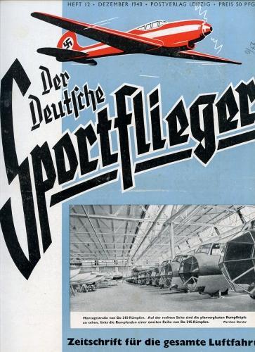 Der Deutsche Sportflieger 1940 Heft 12 Dezember,: Seyboth, Karl (Ing.,