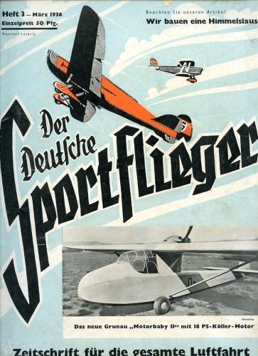 Der Deutsche Sportflieger 1936 Heft 3 März,: Seyboth, Karl (Ing.,