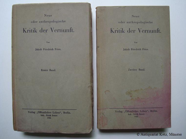 Neue oder anthropologische Kritik der Vernunft. 2: Fries, Jakob Friedrich: