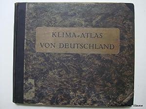 Klima-Atlas von Deutschland. Bearbeitet im Preussischen Meteorologischen: Hellmann, G.: