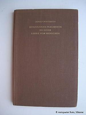 Biologische Fragmente zu einer Lehre vom Menschen.: Portmann, Adolf: