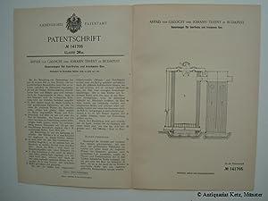 Gaserzeuger für teerfreies und trockenes Gas. (Patentiert: Gálocsy, Árpád von,