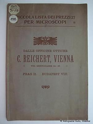 Piccola lista di prezzi 27a per Microscopi: Reichert, C(arl):